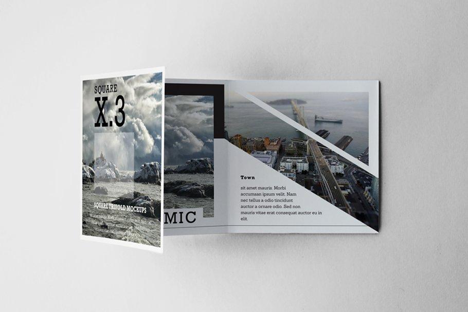 Clean Tri Fold Brochure Mockup