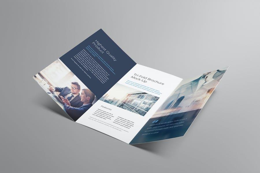 Creative Tri Fold Brochure Mockup