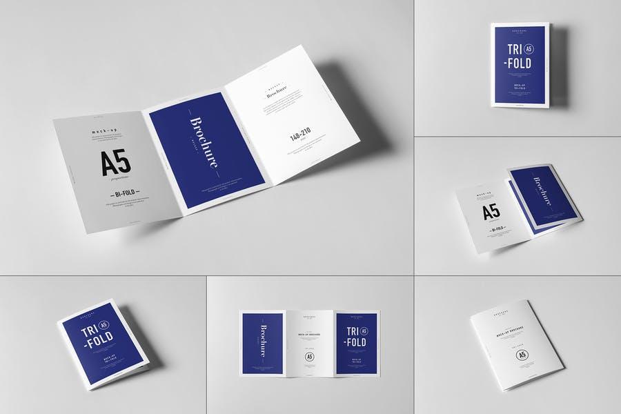 Editable Tri Fold Brochure Mockup