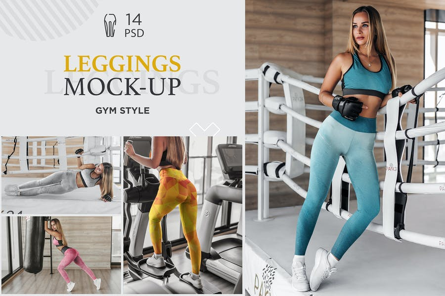 Gym Style Leggings Mockup PSD