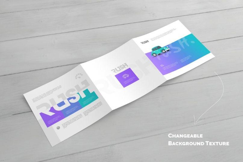 Large Horizontal Brochure Mockup