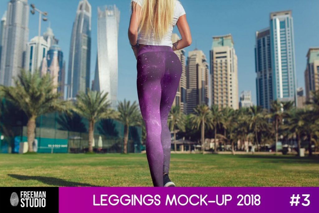 Leggings Mockup in Urban Background