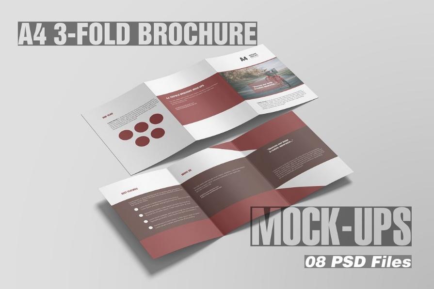 Modern Triple Brochure Mockup