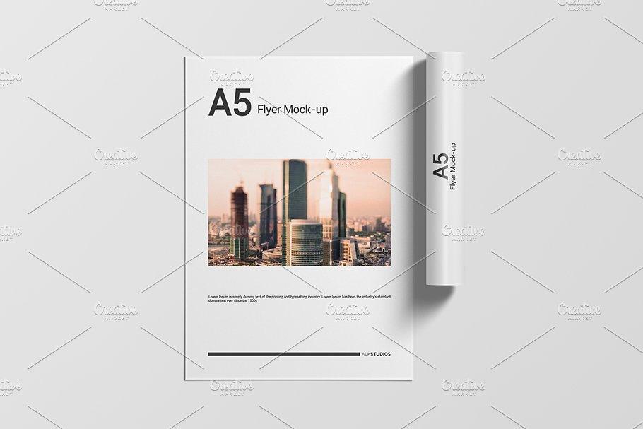 Printable A5 Flyers Mockup