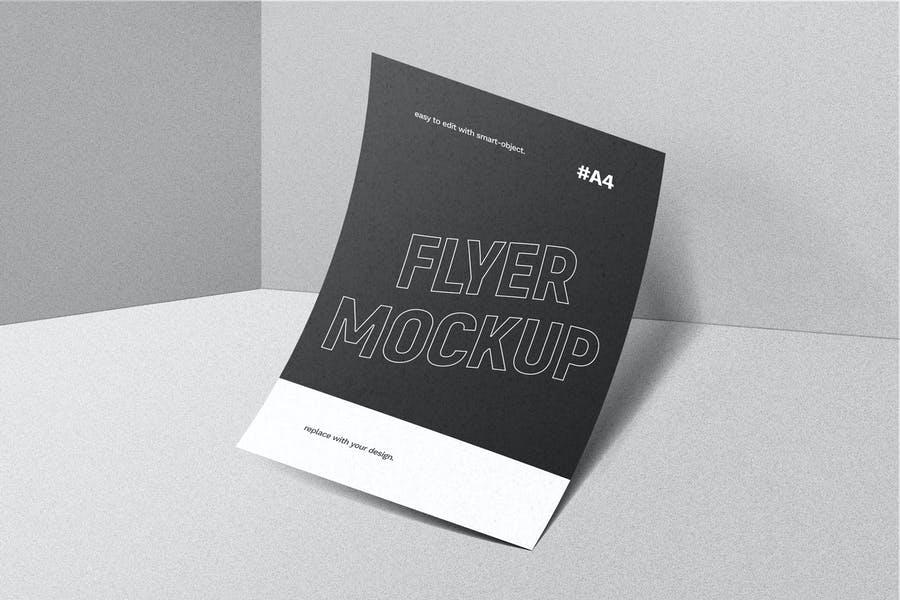 Simple Flyer Mockup PSD