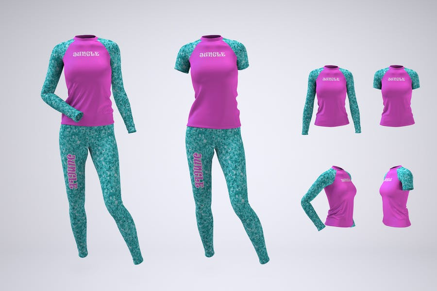 Womans Uniform Mockup