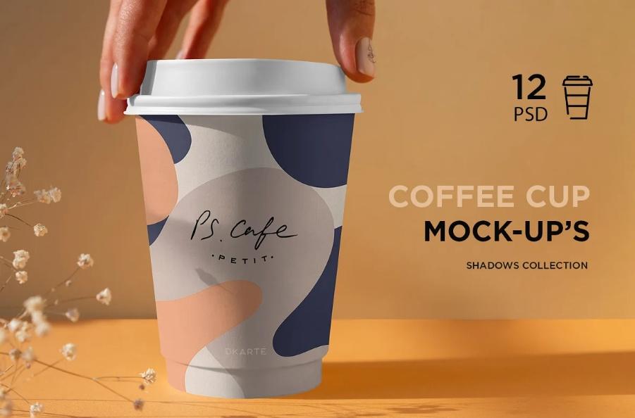 12 Coffee Cup Mockups PSD