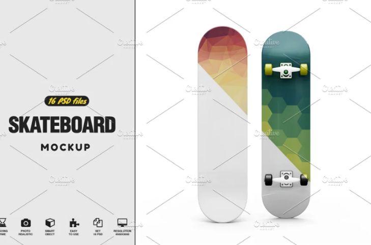 16 PSD Skateboard Mockups