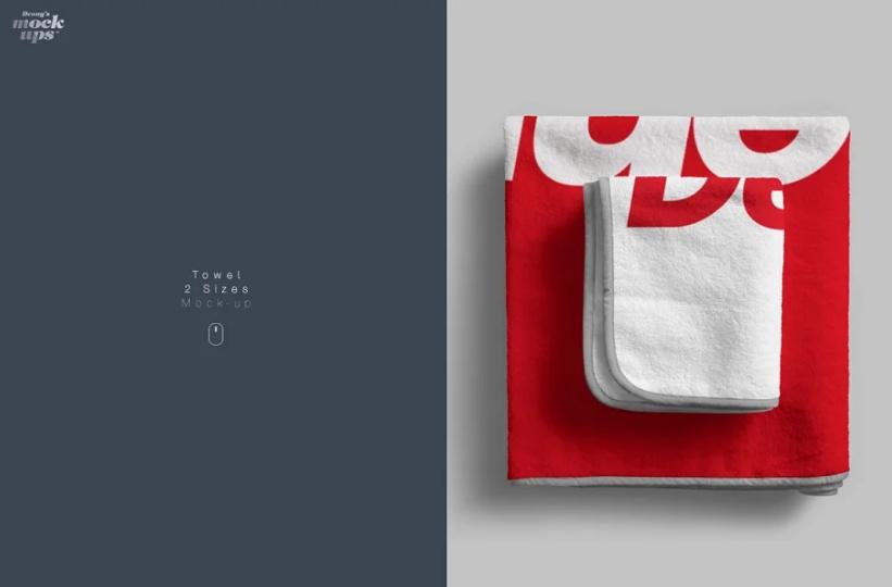 2 Size Towel Mockup PSD