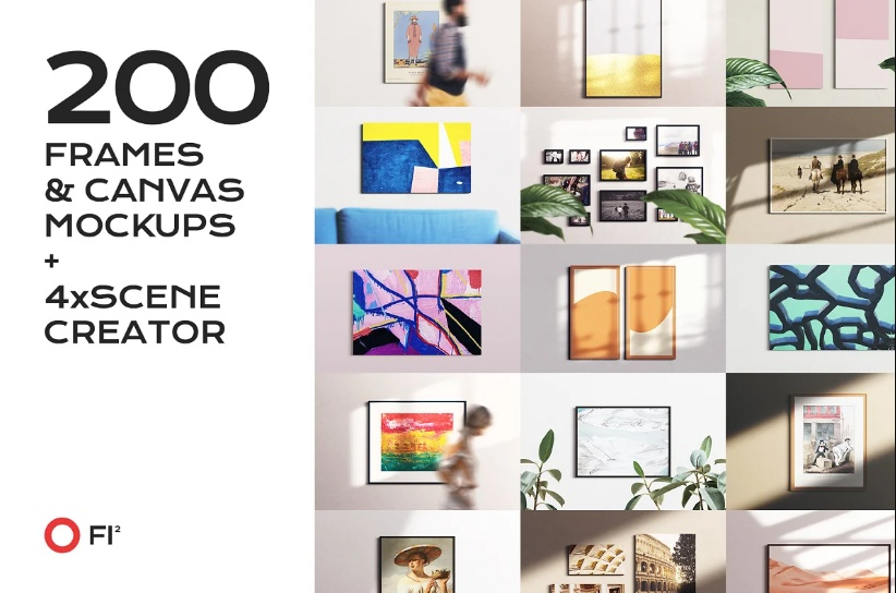 200+ Fame and Canvas Mockup PSD