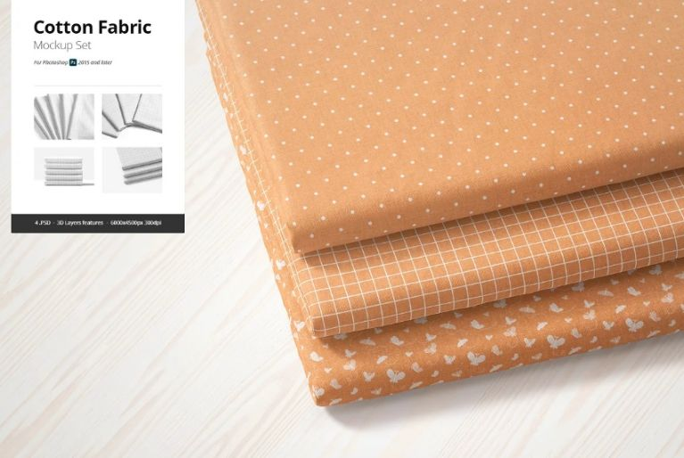 3D Cotton Fabric Mockup PSD