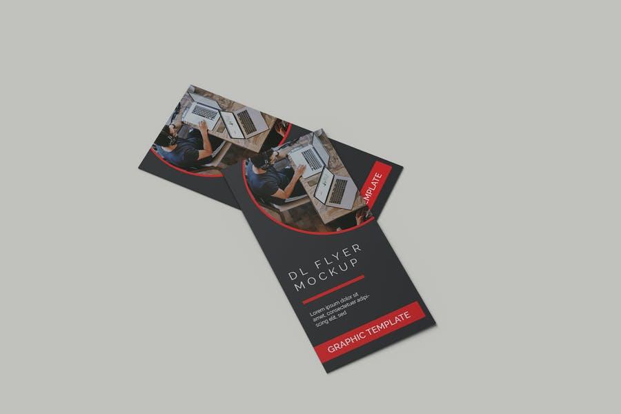 3D DL Flyer Ad mockup