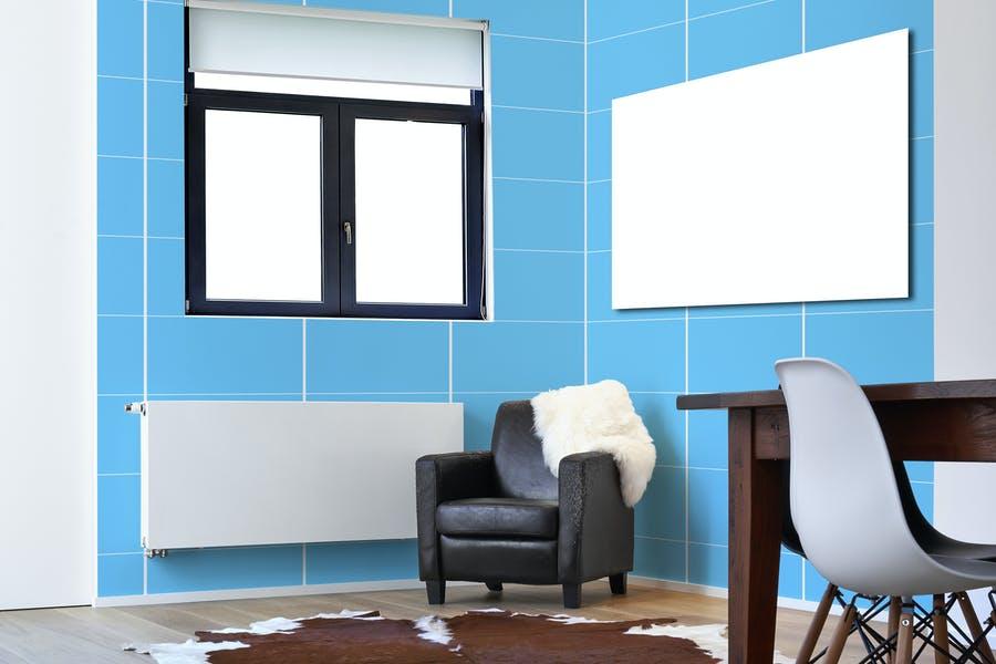 3D Interior Scene Mockup PSD