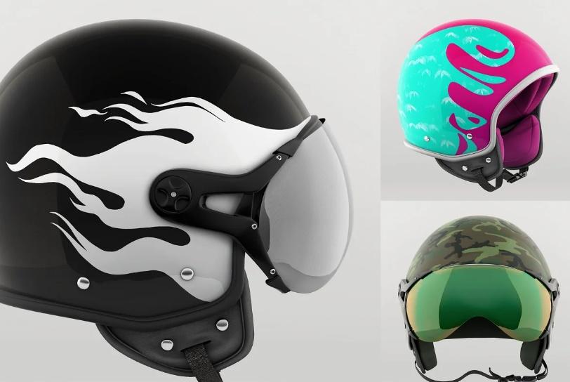 4 Helmet Mockup Sets