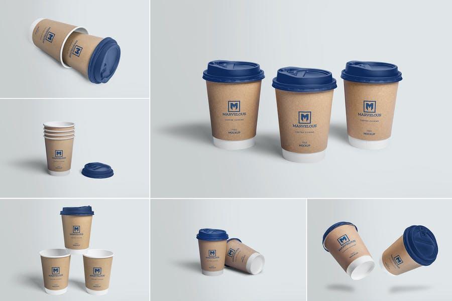 6 Coffee Cup Mockup Set
