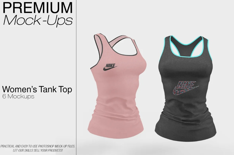 6 Premium Tank Top Mockups