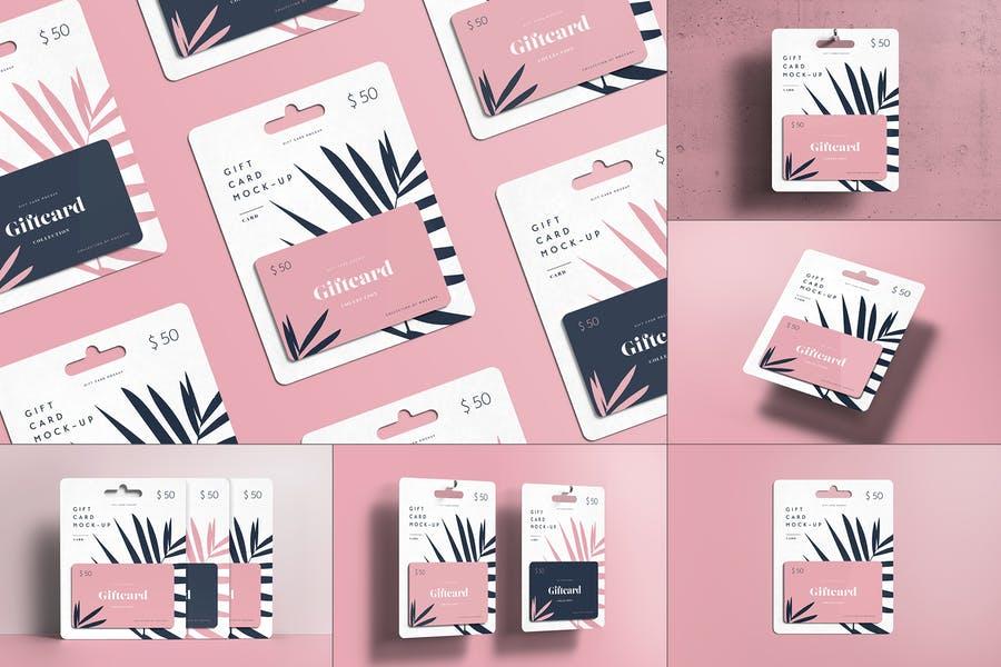 8 Professional Gift Card Mockups