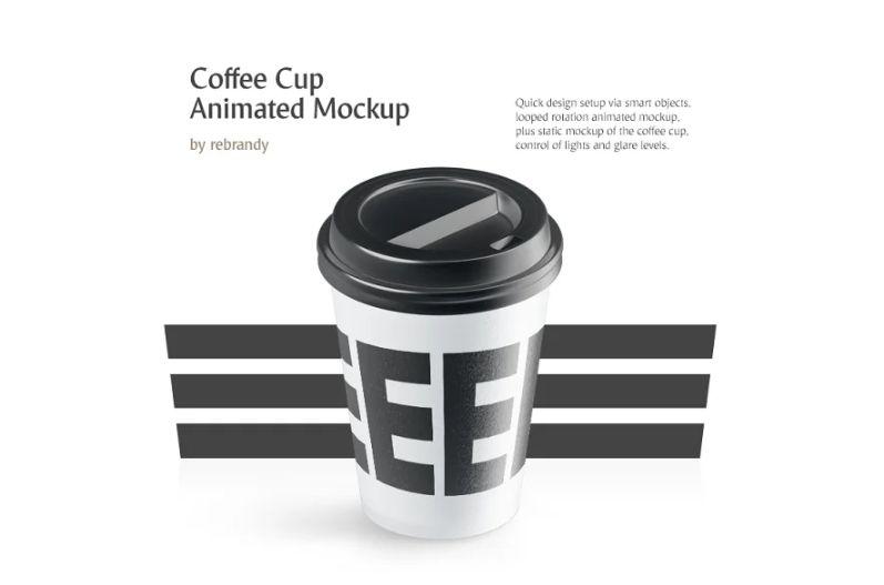 Animated Coffee Cup Mockup