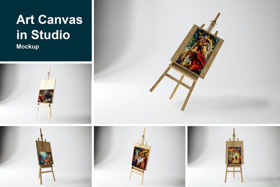 Art Canvas in Studio Mockup