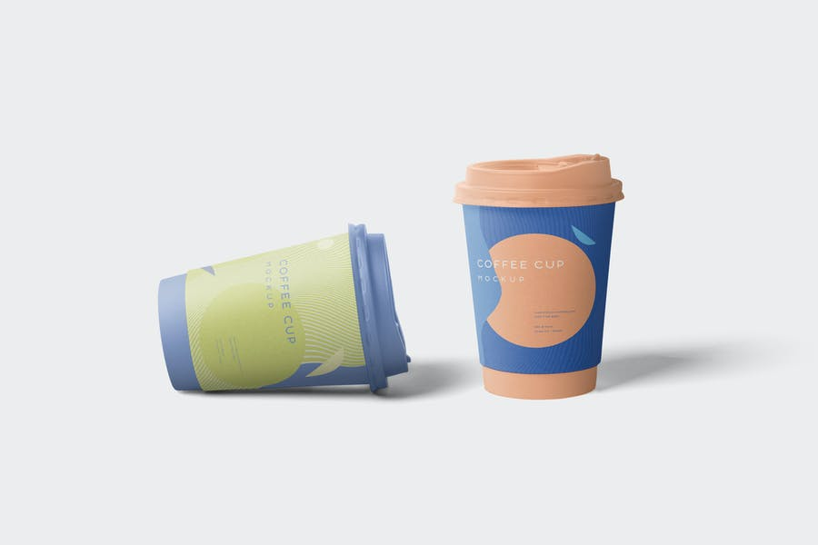Awesome Paper Cup Mockup PSD