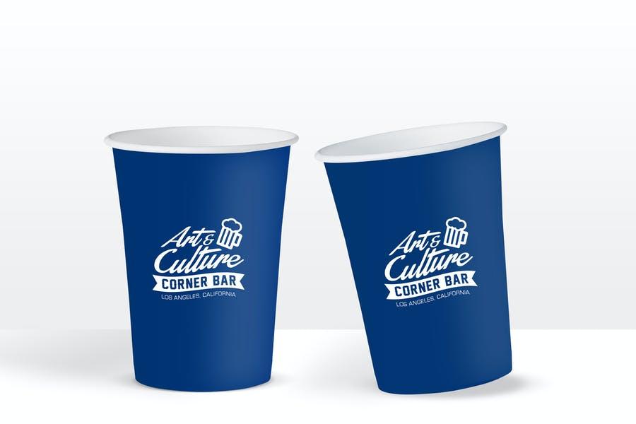 Bar Paper Cup Mockup PSD