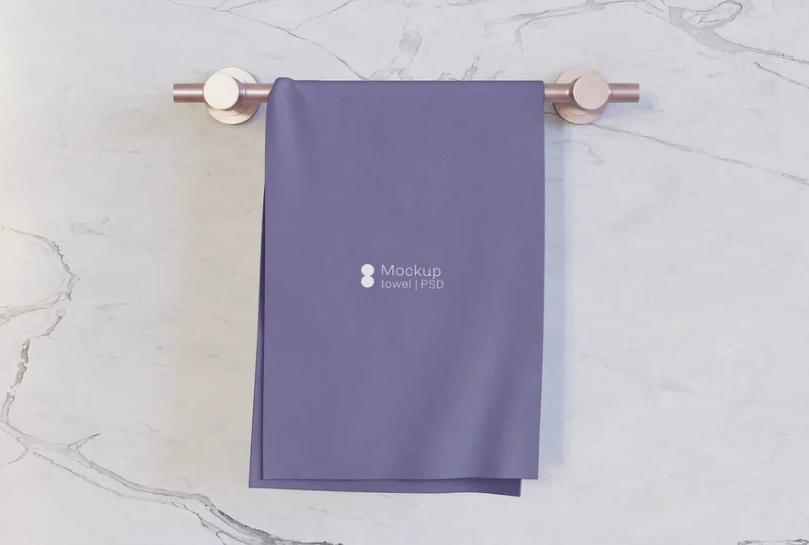 Bath Towel Mockup PSD