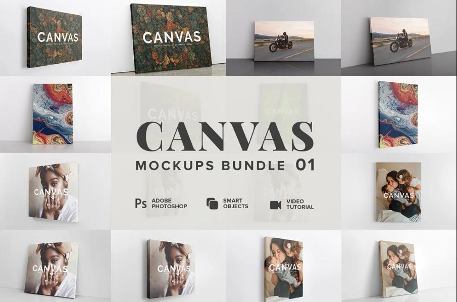 Best Canvas Mockup Bundle