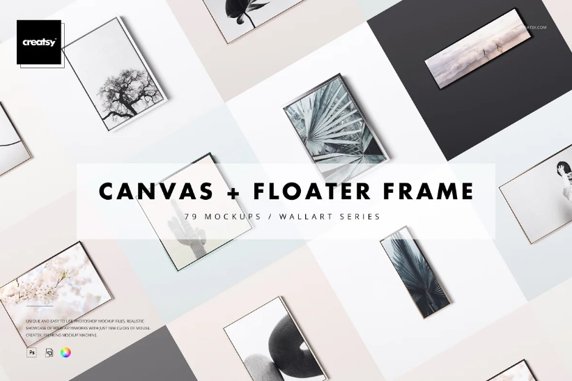 Canvas and Floater Frame Mockup