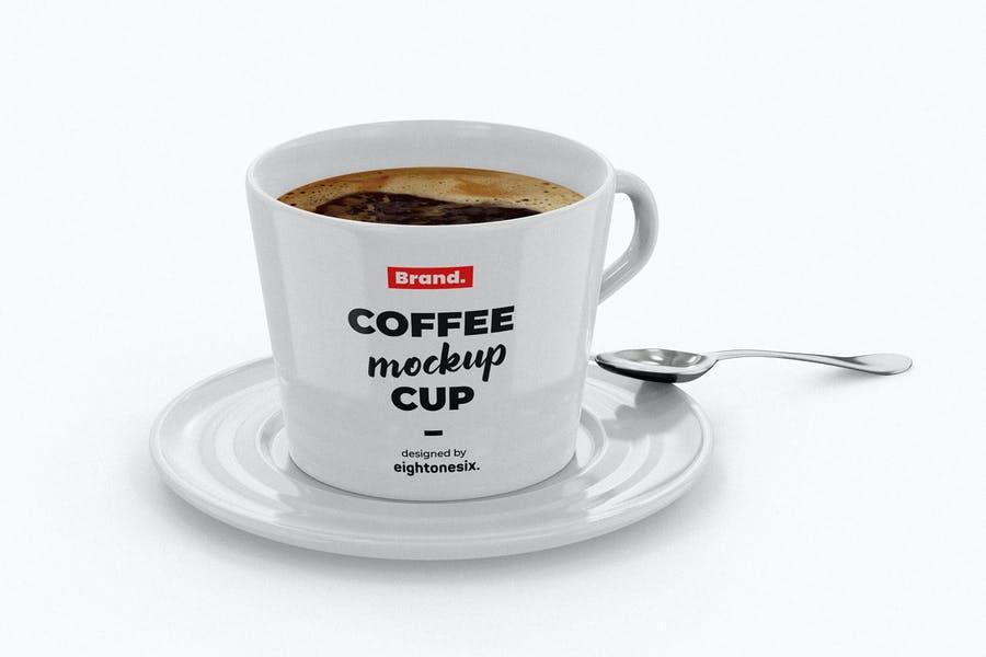 Ceramic Coffee Cup Mockup