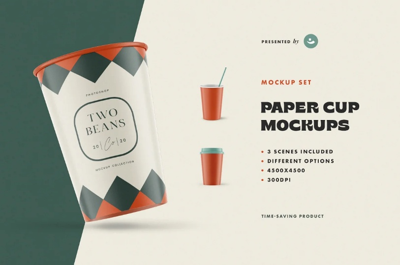 Clean Drinking Cup Mockup