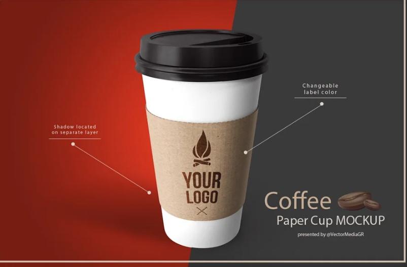 Coffee Cup  Sleeve Mockup
