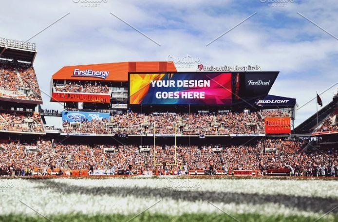 Creative Stadium Ad PSD Mockup