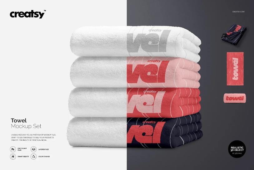 Creative Towel Mockup Set