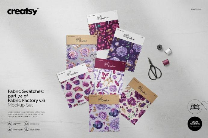 Customizable Fabric Swatch Design Mockup
