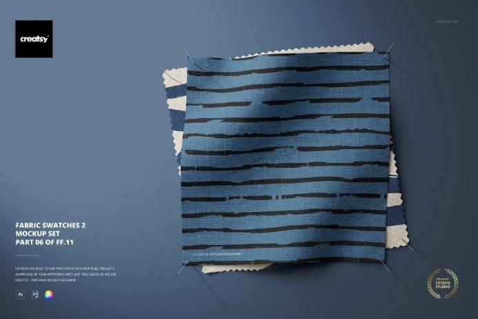 Customizable Fabric Swatches Mockup PSD