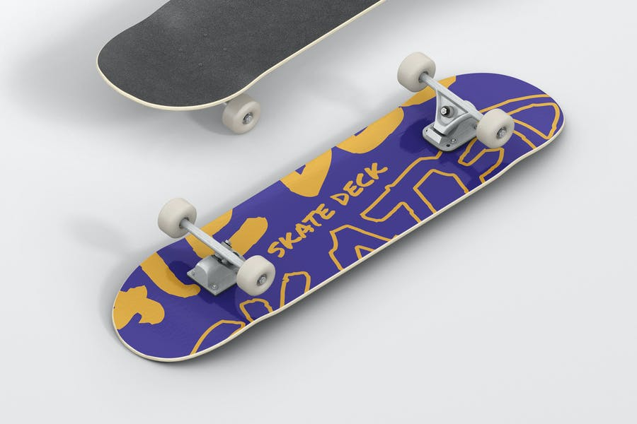 Customizable Skateboard Mockup PSD