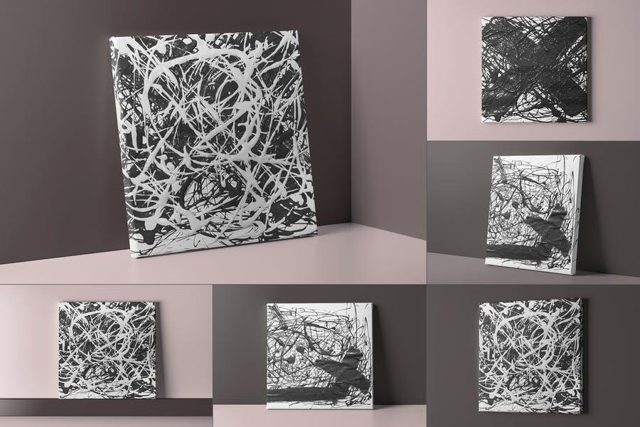 Editable Canvas Mockup Set
