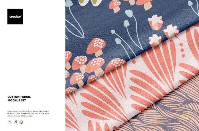 Editable Cotton Fabric Mockup Set