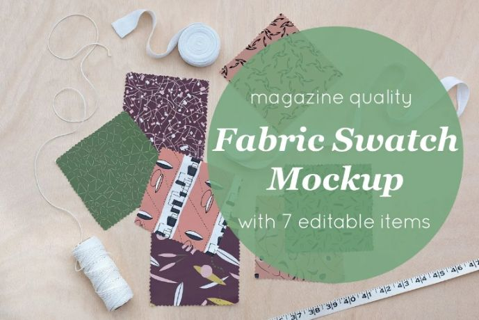 Editable Fabric Swatch Mockups