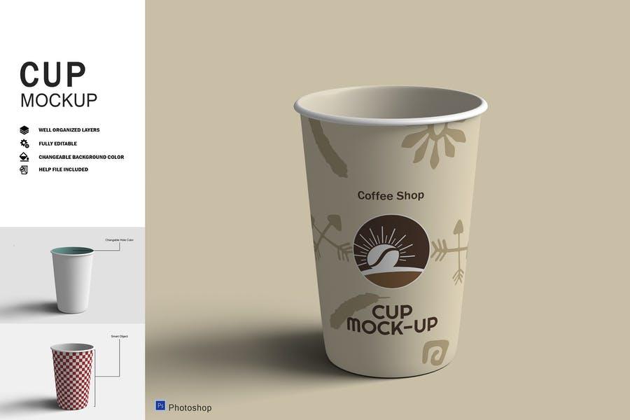 Editable Paper Cup Branding Mockups