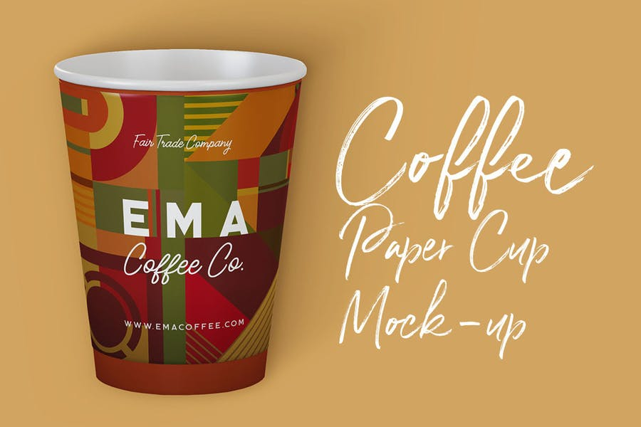 Editable Paper Cup Mockup