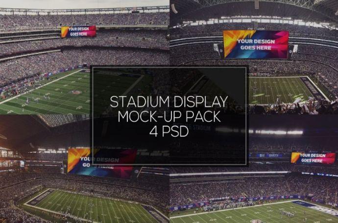 Editable Stadium Ad Mockup PSD