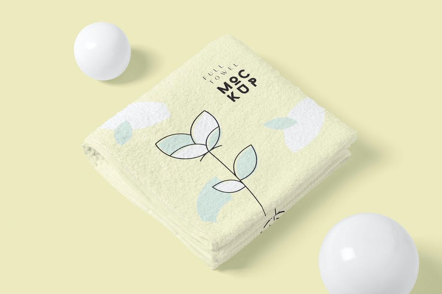 Elegant Full Towel Mockup PSD