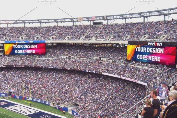 Football Stadium Ads Mockup PSD