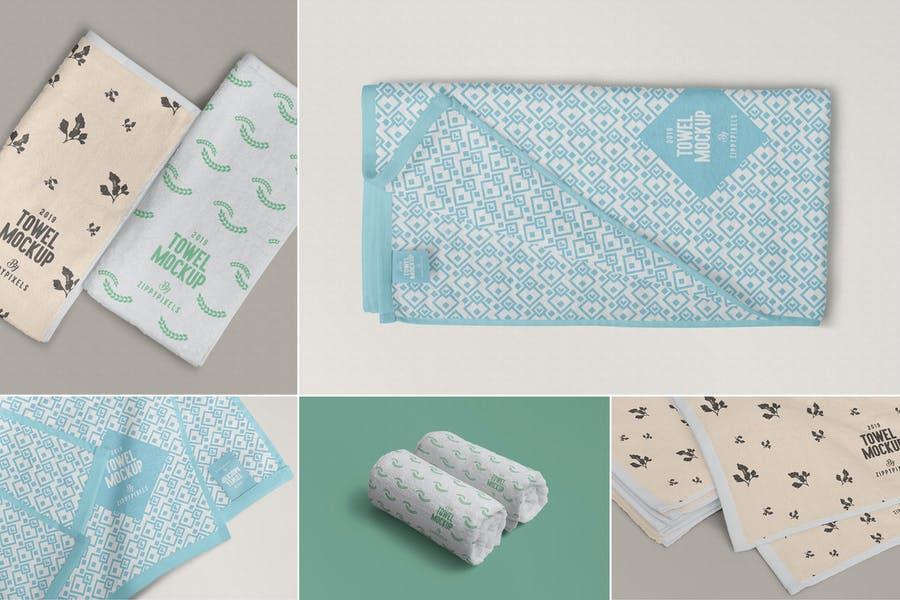 Full Towel Branding Mockup