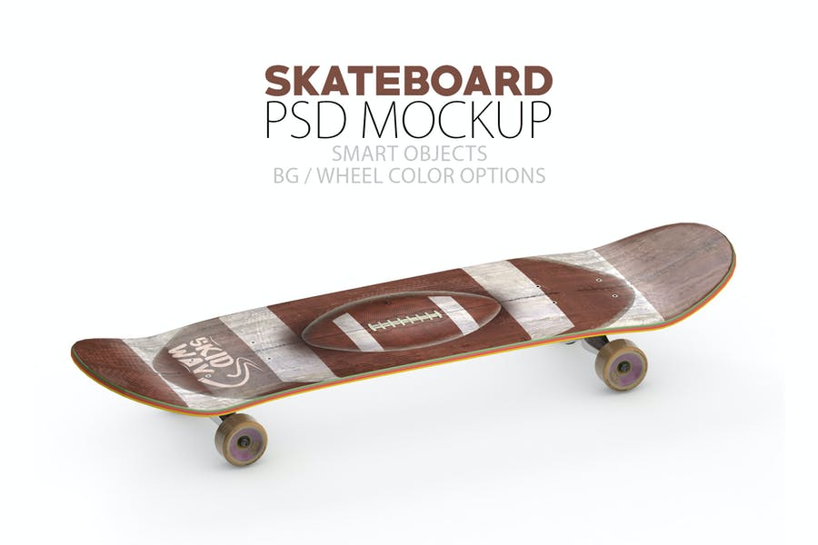 Fully Layered Skateboard Mockups