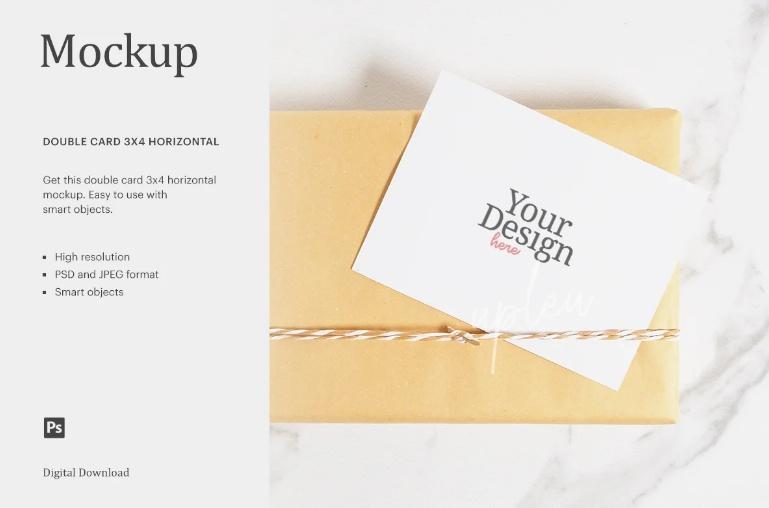 Gift Card Design Mockup