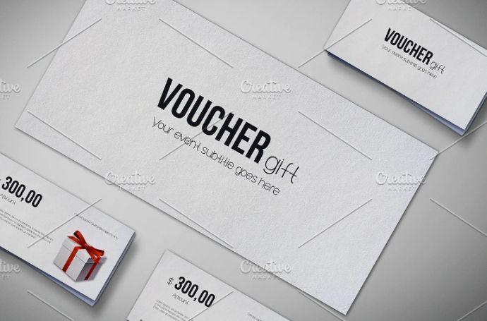 Gift Voucher Pack Mockup PSD