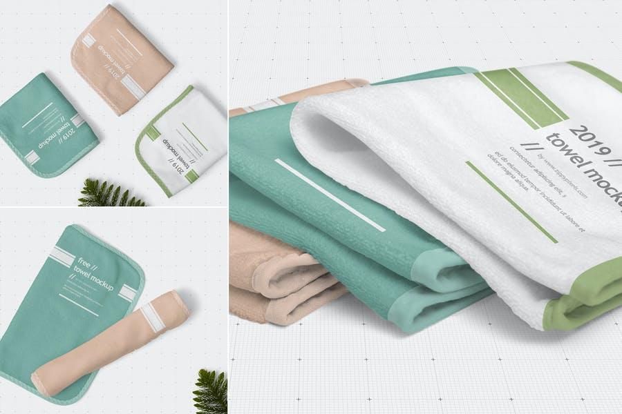Hand Towel Mockup PSD