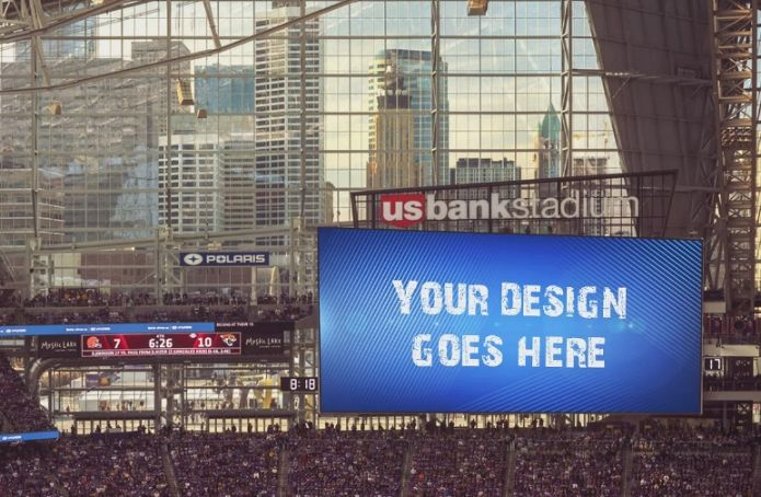 High Quality Stadium Ads Mockup